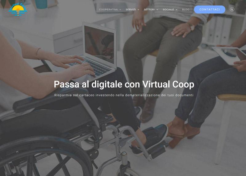 Pagina principale di virtualcoop.net