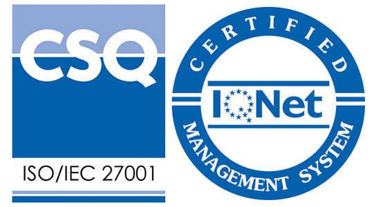 Certificato qualita e sicurezza dei dati ISO/IEC 27001